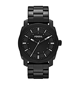Fossil® Machine Black Ion-Plated with Black Dial Men's Dress Watch