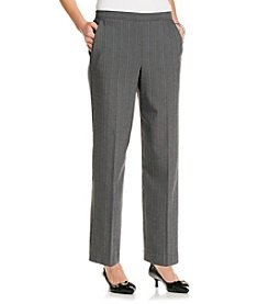 Alfred Dunner Petites' Top Notch Pin Stripe Pant