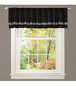 Lush Decor Night Sky Black and Grey Valance