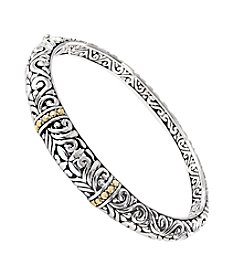 Effy® Balissima Collection Sterling Silver and 18K Gold Bangle Bracelet