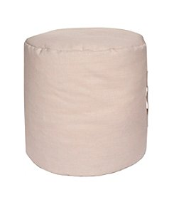 Chic Designs Round Neutral Pouf