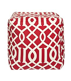 Chic Designs Square Edgy Pattern Pouf