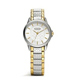 COACH WOMEN'S 32mm TWO-TONE CLASSIC SIGNATURE BRACELET WATCH
