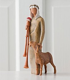 Willow Tree® Nativity Figurine - Shepherd with Bagpipe