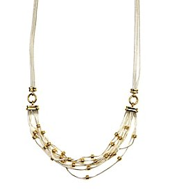 Napier® Two Tone Multi Row Frontal Necklace
