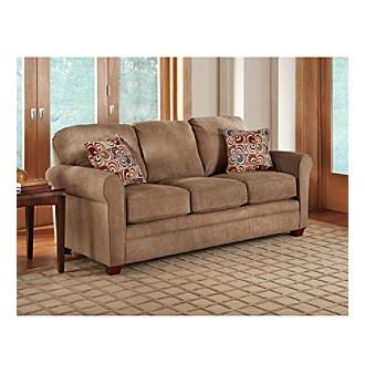 Lane Truffle Queen Sleeper Sofa with iRest Gel Infused Foam Mattress Loveseat Sleeper
