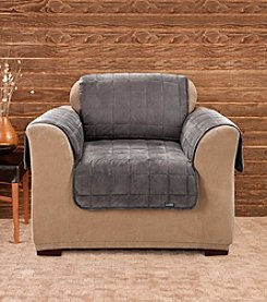 Sure Fit® Deluxe Dark Grey Pet Comfort  Chair Cover