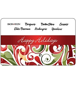 Gift Card - Happy Holidays - Colorful Swirls