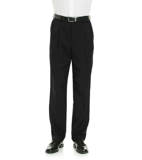 Savane Crosshatch Pleated Dress Pant