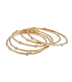 Erica Lyons® Goldtone Bangle Bracelets Set
