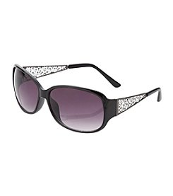 Relativity® Black Mod Square Sunglasses