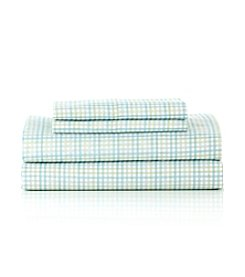 LivingQuarters Easy Care Window Pane Microfiber Sheet Set