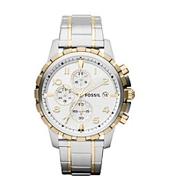 Fossil® Men's 45mm Dean Chronograph Two-Tone Stainless Steel Watch