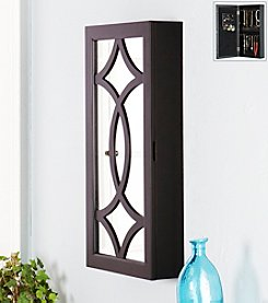 Southern Enterprises Black Cora Wall-Mount Jewelry Mirror