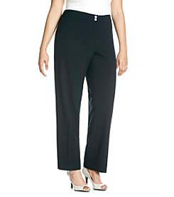 Calvin Klein Plus Size Career Solid Pants