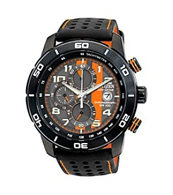 Citizen® Black with Orange Men's Adrenaline Eco-Drive Watch