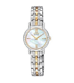 Citizen® Women's Two-Tone With Mother Of Pearl Dial Silhouette Eco-Drive Watch