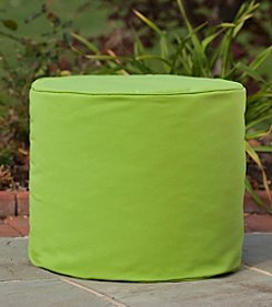 Gold Medal Solid Outdoor Weather Resistant Ottoman