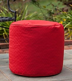 Gold Medal Textured Outdoor Weather Resistant Ottoman