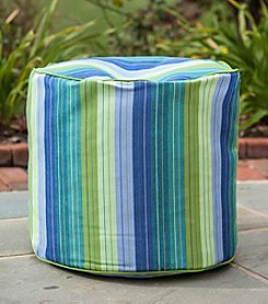 Gold Medal Seville Seaside Outdoor Weather Resistant Ottoman
