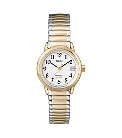 Timex® Womens' Easy-To-Read Dial With Two-Tone Expansion Band Watch