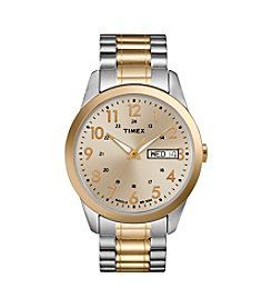 Timex® Men's Champagne Dial Two-Tone Expansion Watch
