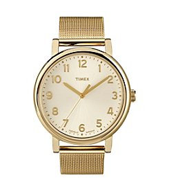 Timex® Women's Originals Watch with Goldtone Classic Round Dial and Mesh Bracelet