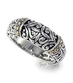 Effy® Balissima Collection Design Band Ring in Silver and 18K Gold