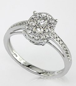 Effy® Bouquet Collection .56 ct. t.w. Diamond Ring in 14K White Gold