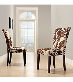 Home Interior 2-pc. Cowhide Print Side Chairs