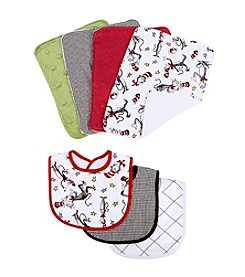 Trend Lab Dr. Seuss Cat in the Hat Bib and Burp Cloth Set