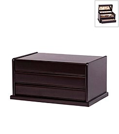 Mele & Co. Juliette Wooden Jewelry Box in Java Finish
