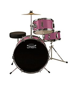 Union UJ3 3-pc. Pink Junior Drum Set with Hardware, Cymbal, and Throne