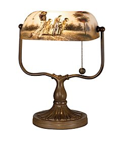 Dale Tiffany Golf Handale Accent Table Lamp