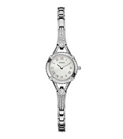 GUESS Silvertone Petite Embellishment Watch