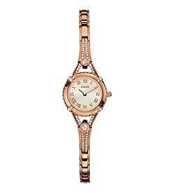 GUESS Rose Goldtone Glamour Embellishment Watch