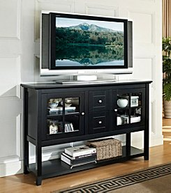 W.Designs  Dineen Black Wood Console Table TV Stand