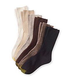 GOLD TOE® Women's 6-Pack Turn Cuff Socks