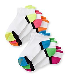 GOLD TOE® Women's 6-Pack Neon Tab Liner Socks