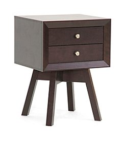 Baxton Studios Warwick Brown Modern Accent Table/Nightstand
