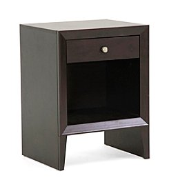 Baxton Studios Leelanau Brown Modern Accent Table/Nightstand