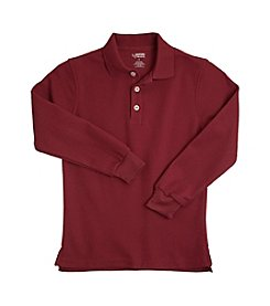 French Toast® Boys' 2T-20 Burgundy Long Sleeve Pique Polo