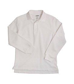 French Toast® Boys' 2T-20 White Long Sleeve Pique Polo