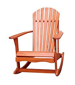 International Concepts Oiled Finish Solid Wood Adirondack Rocker Chair
