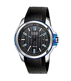 Citizen® Men's Drive Eco-Drive Two-Tone Date Strap Watch With Blue Accents