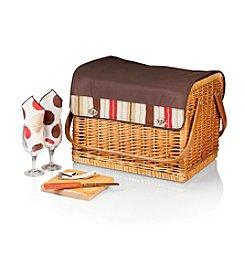 Picnic Time® Kabrio - Moka Willow Wine Basket