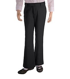French Toast® Girls' 4-20.5 Plus Black Adjustable Waist Pants