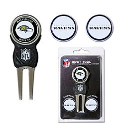 NFL® Baltimore Ravens Black/Purple 3-Marker Signature Divot Tool Pack