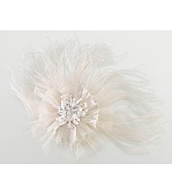 Lillian Rose® Ivory Marabou Feather Hair Clip