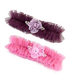 Lillian Rose® Tulle Garter with Flower